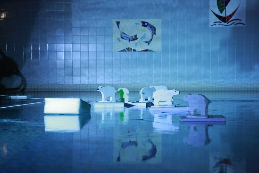 Performance im Pool